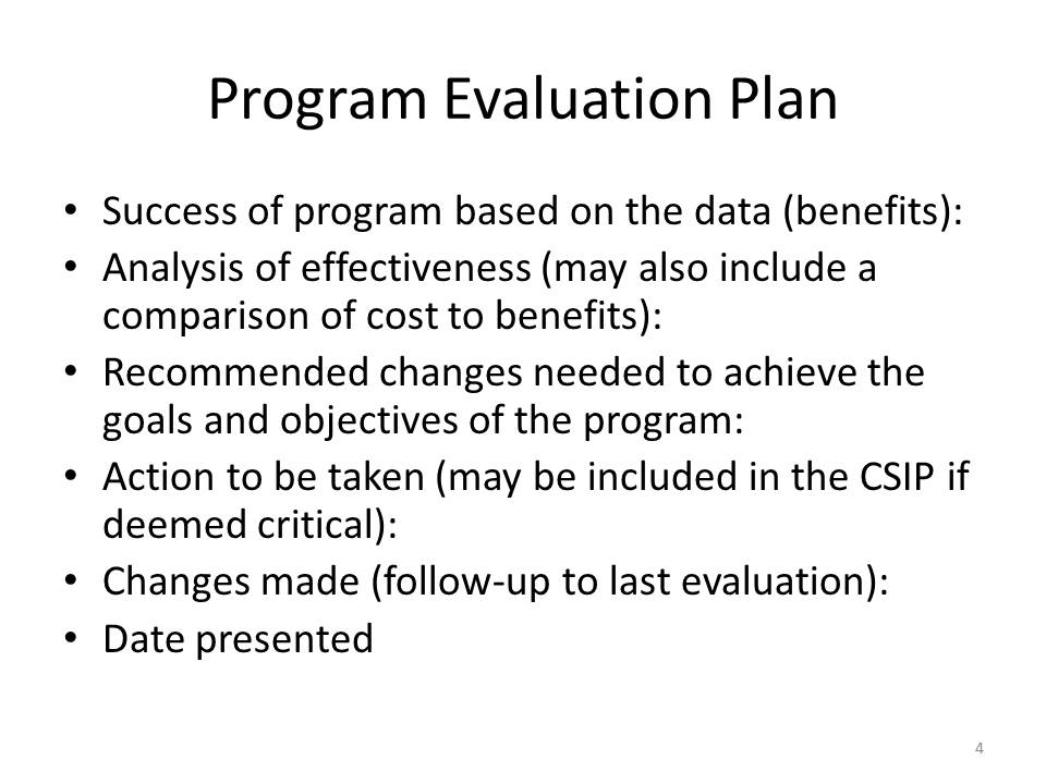 Evaluation Plan Donna Brownfuture Administrative Candidate – Evaluation Plan